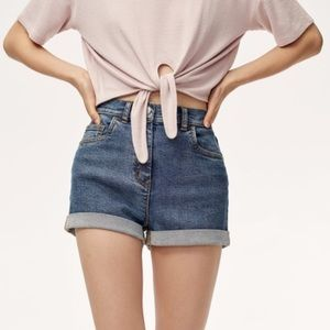 Wilfred Free High Waisted Jean Shorts